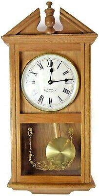 Westminster Chimes Wall Clock Light Oak