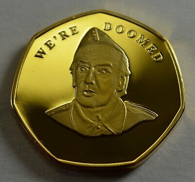 Brand New BREXIT 24ct Gold Commemorative 'WE'RE DOOMED' - Dads Army, Frazer