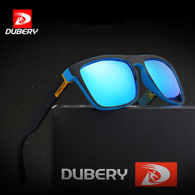 DUBERY Mens Womens Polarized Sunglasses Square Outdoor Driving Fishing UV400