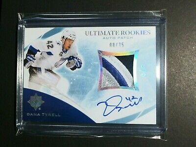 2010-11 UD Upper Deck Ultimate Rookies Dana Tyrell  8/35 Auto Patch Rookie RC