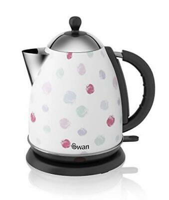 Swan Polka Dot  Retro Jug  Kettle 1.7L Cordless Rapid Boil  2 Year Guarantee New