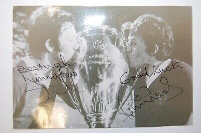Jimmy Case & Phil Neal Liverpool 1981 European Cup Winners  Signed Photo