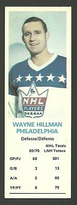 Wayne Hillman Philadelphia Flyers 1970-71 Dad's Cookies Hockey Card EX/MT