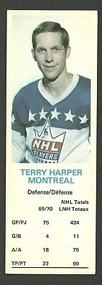 Terry Harper Montreal Canadiens 1970-71 Dad's Cookies Hockey Card EX/MT