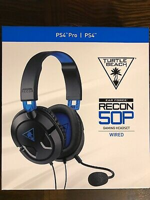 Turtle Beach Recon 50P Black Gaming Headsets for Multi-Platform Brand New