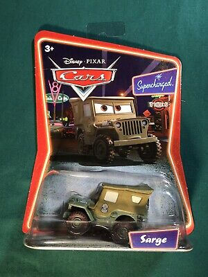 NEW Disney Pixar Cars SARGE Supercharged Die Cast Toy Car from MATTEL