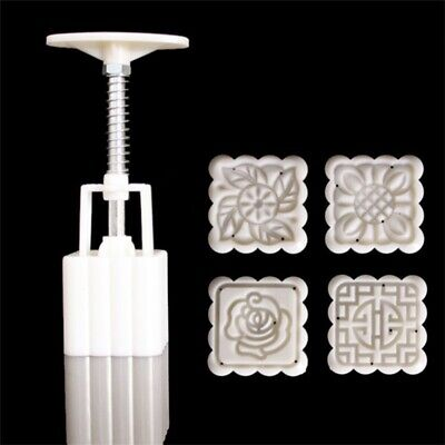 Hand DIY Tool Stamps 50g Square Flower Moon Cake Mold Mould Pastry Mooncake US