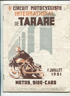 N°7121  / programme 6 éme circuit motocycliste international de TARARE 07.1951