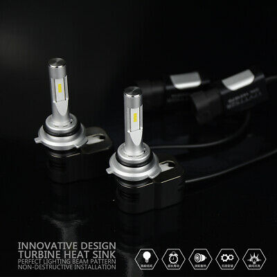 CSP LED Headlight Kit 9005 HB3 H10 9140 9145 2010W 6000K 301500LM Bulbs Pair