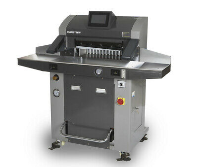 """520mm 20.5"""" Hydraulic Paper Guillotine Cutter Programmable+Roll Ball&Side Tables"""