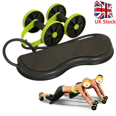 Double Wheel Fitness Abdominal Power Roll Trainer Waist Slimming Exerciser Core