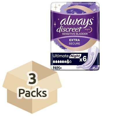 Always Discreet Incontinence Pads Maxi Night - Pack of 6