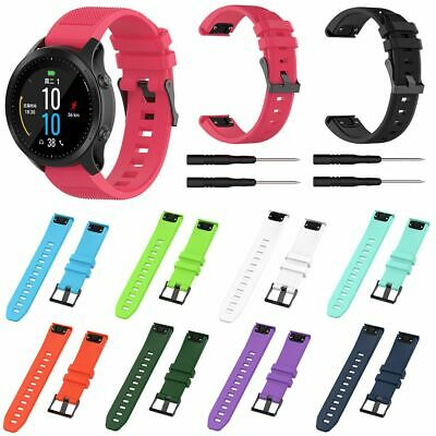 Replacement Silicone Quick Install Band Strap Fr Garmin Fenix 5/5X/5S/3/3HR/S60
