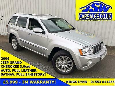 2006 Jeep Grand Cherokee 3.0CRD AUTO Overland -Full S/History. H/Leather. SATNAV