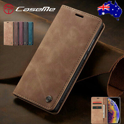 For iPhone Xs Max Xr 8 Plus Leather Wallet Case Magnetic Flip Cards Stand Cover
