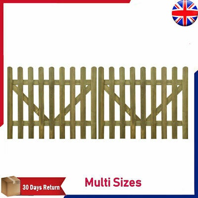 2PC Wooden Picket Fence Panels Gate Picket Forest Plant Climbing Door Decorative