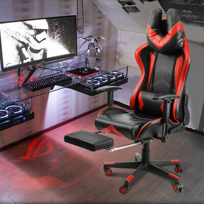 Ergonomic Executive Office Chair Racing Gaming High Back Computer Seat Footrest