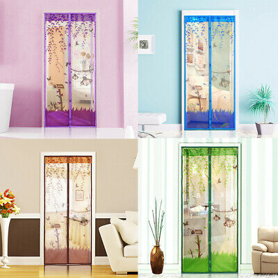 Magic Magnetic Door Mesh Curtain Insect Bug Fly Mosquito Guard Net Screen UK