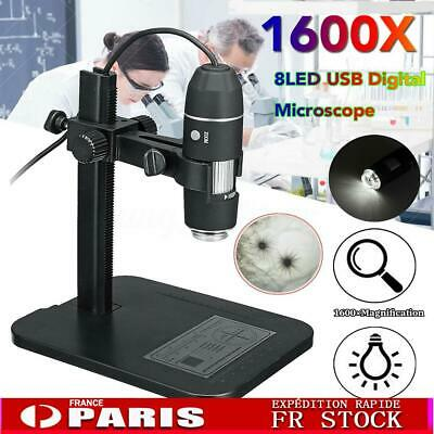 1600X 8LED 24bit USB Digital Microscope Endoscope 5segment Zoom Loupe