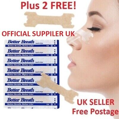 Nasal Nose Sleep strips better breathe Stop Snoring Breath Easier Uk FREE p+p