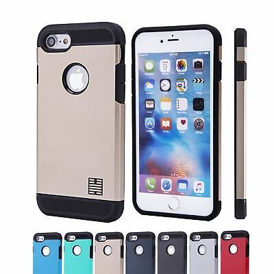 Hybrid Slim Armour Tough Shockproof Case Cover For Apple iPhone 7 & 8 Plus