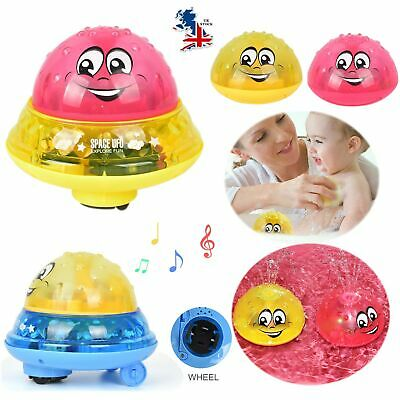 Funny Infant Electric Induction Water Spray Ball Light Children Baby Bath Toy UK
