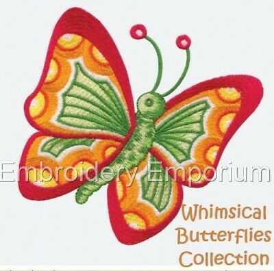 Whimsical Butterflies Collection - Machine Embroidery Designs On Cd Or Usb