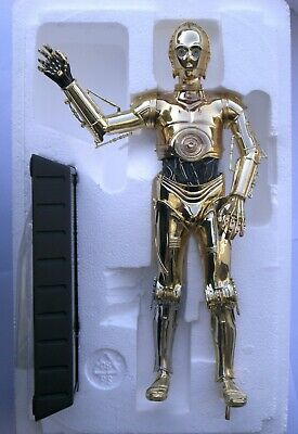 Star Wars Gentle Giant Gold Plated Statue C-3Po/D-3Bo - Numer. 385/3000 - 27 Cm