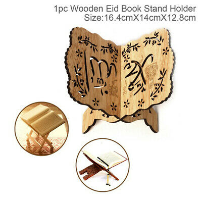 Wooden Book Stand Display Reading Adjustable Holder Auxiliary Tools