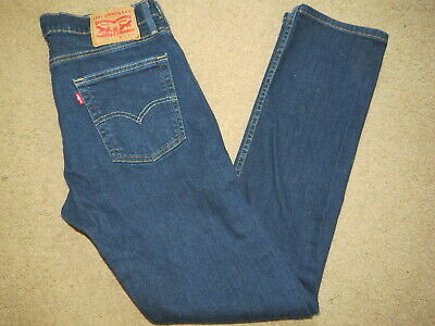GREAT Levis Levi Strauss 513 (slim straight) denim blue jeans - mens 33 x 32.5