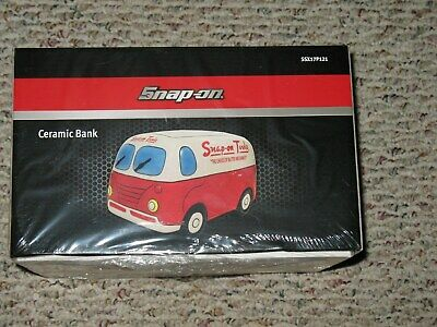 Snap On Tools Rare Limited Edition Collectible CeramicModel Van -Bank