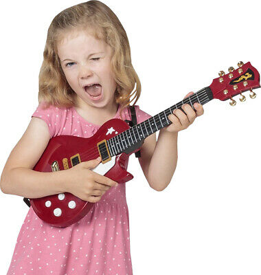 Kids Musical Instrument 6 Strings Playing Mini Electric Rock Guitar Toy 54.5cm