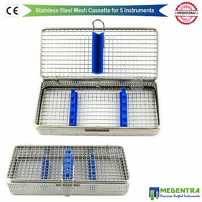 Dental Surgical Stainless Mesh Wire Tray Sterilization Cassette for 5 Instrument