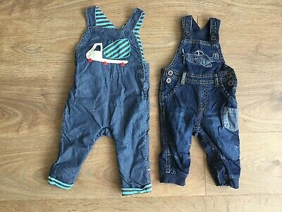 Boys Denim Dungarees 6-9 Months George Mothercare A635