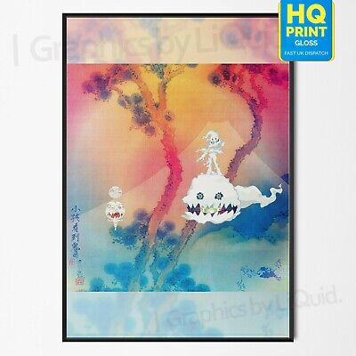 Kids See Ghosts Kanye West & Kid Cudi Album Cover Poster Print | A4 A3 A2 A1 |
