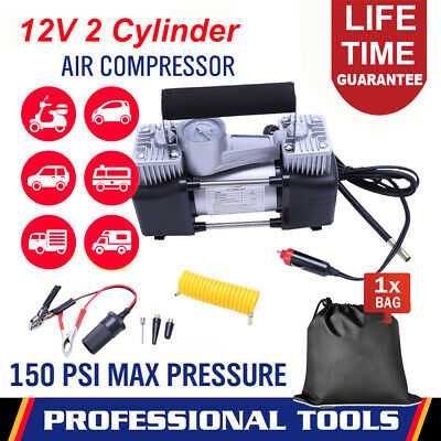 Portable 12V Electric Car Tyre Inflator 150Psi Air Compressor Pump Heavy Duty