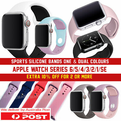 Apple Watch Band Series 5/4/3/2/1, 38 40 42 44mm Sports Silicone Strap Wristband