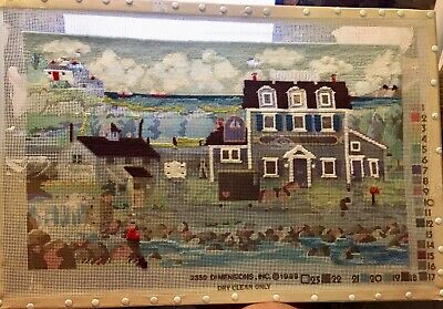 Dimensions Needlepoint Canvas Nantucket Breeze Rare by Charles Wysocki On Frame