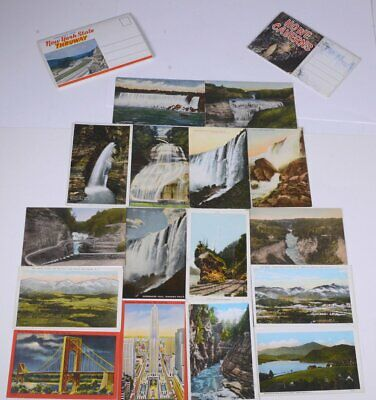 Lot of (18) 1908 Vintage Niagara Falls New York State Souvenir Postcards