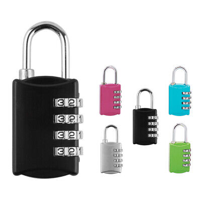 Security 4 Digit Combination Travel Suitcase Luggage Bag Code Lock Padlock Well