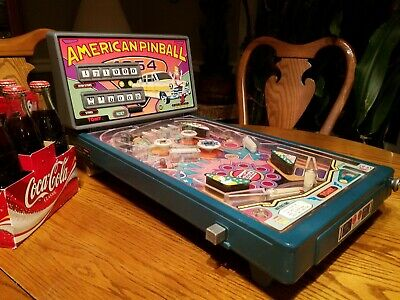 Vintage Working Tomy Electronic Arcade American Pinball Machine w/ Power Adapter