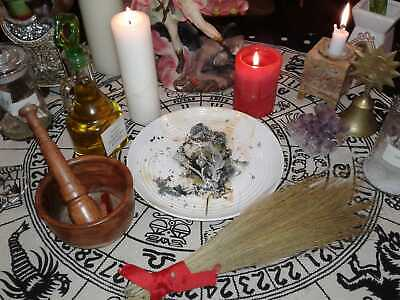 WAXING MOON AMULET / Necklace - Wicca, Hoodoo, Witch - $6 25