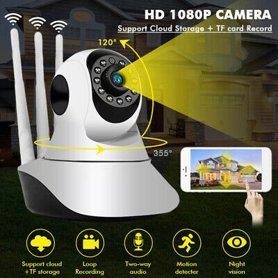360° 1080P IP Wireless Cameras Night Vision Home Security Pan Tilt WiFi CCTV CAM