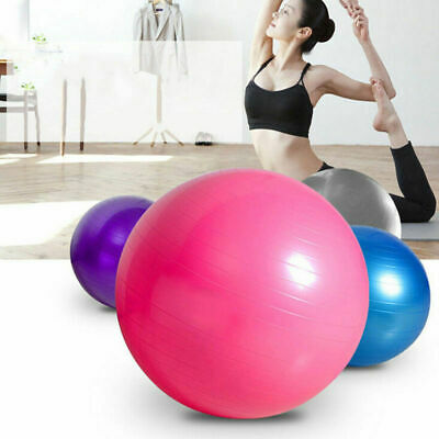 Yoga Ball w Air Pump Anti Burst Exercise Balance Workout Stability 55 65 75cm