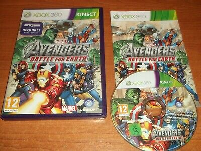 Marvel Avengers Battle For Earth Microsoft Xbox 360 Uk Pal Game Installed Tested