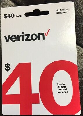 Brand New $40 Verizon Wireless Prepaid Refill Card (Fast Sameday Email Delivery)