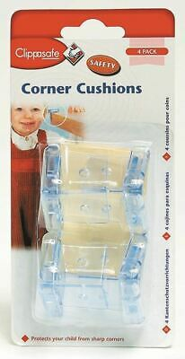 Clippasafe Corner Cushions 4 Pack Protects Children from Injuries Sharp Corners