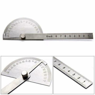 180 degree Stainless Steel Protractor Angle Finder Arm Ruler Measuring Tool T5Q4