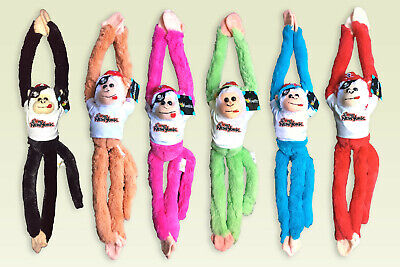 """1 18"""" Hanging Monkey Plush Stuffed Animal Toy w Sounds Pick any Style and Color"""