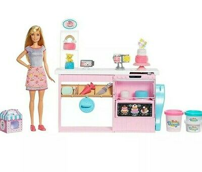 Barbie doll and her cake decorating playset Girls Kids